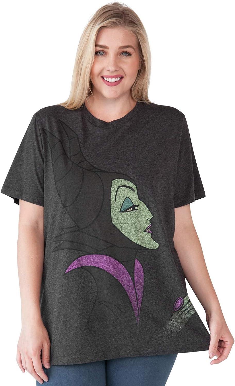 Disney Womens Plus Size T-Shirt Maleficent Villains Print