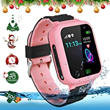 GPS Children's Watches Phone, Sports Smart Watches for 4-15y Boys and Girls, HD Touch Screen Smartwatch Phone Real-time Positioning with Call Remote Camera SOS Alarm Voice Messages for Students