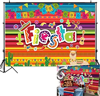 Mehofoto Mexico Fiesta Backdrop Fiesta Themed Dress-up Photography Background 7x5ft Vinyl Luau Event Supplies Mexican Birthday Party Banner Decoration