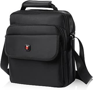 Soperwillton Vertical Shoulder Messenger Bag for iPad, Tablet and Laptop Upto 14