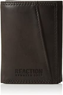 Men's Wallet - RFID Genuine Leather Slim Trifold with ID Window and Card Slots