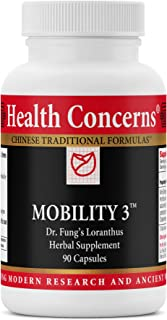 Health Concerns - Mobility 3 - Dr. Fung's Loranthus Chinese Herbal Supplement - Physical Discomfort Relief During Wind, Cold, or Dampness - with Kirin Ginseng Root - 90 Count
