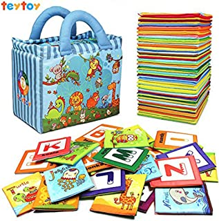 teytoy Baby Toy Zoo Series 26pcs Soft Alphabet Cards with Cloth Bag for Over 0 Years