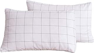 JELLYMONI Juego de fundas de almohada 100% algodón natural