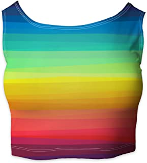 Rainbow Rules Color Up Your Life! Sleeveless Crop Top