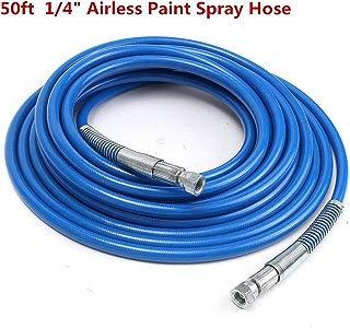 """iMeshbean 50ft 1/4"""" Airless Paint Spray Hose Sprayer Light Flexible Fiber Tube 3300PSI"""