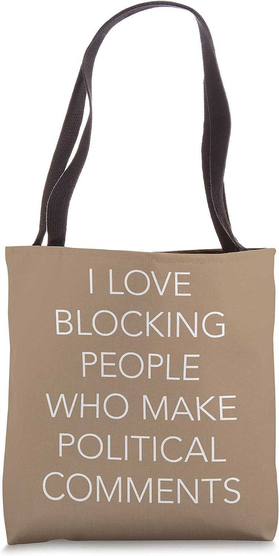 I Love Block People Who Make Social Media Word Design Tote Bag