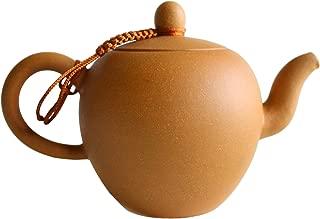 Yixing Chinese Teapot 6.8oz Pots Infuser For Loose Tea Handmade Clay Zisha(Yellow)