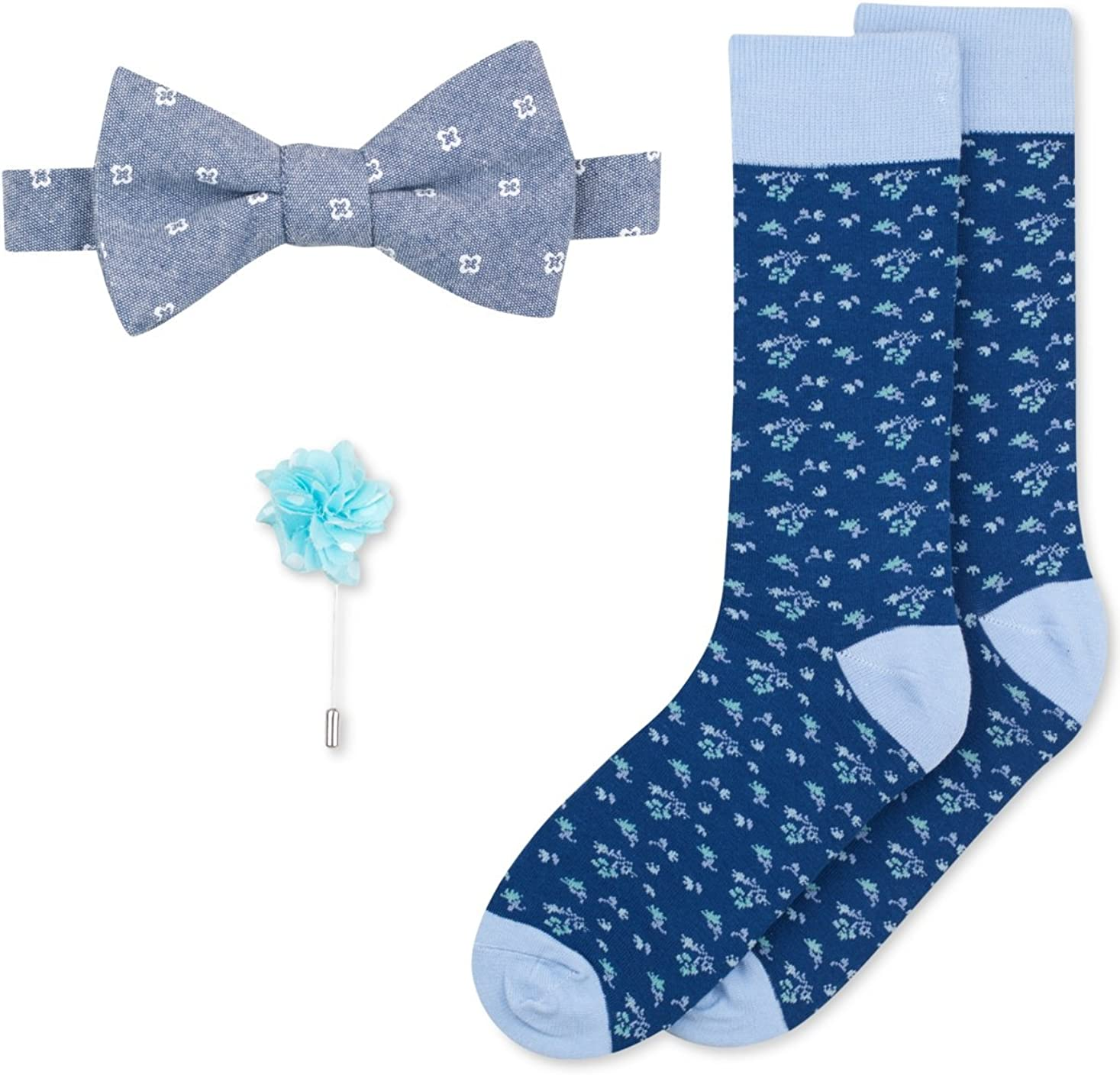 Bar III Men's Bow Tie, Lapel Pin & Socks Set