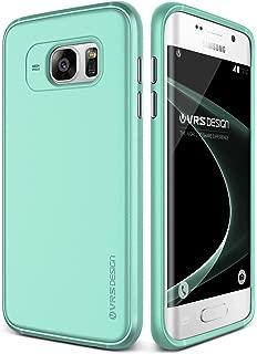 Galaxy S7 Edge Case, VRS Design [Single Fit][Ice Mint] - [Metallic Buttons][Non Slip][Slim Fit] For Samsung S7 Edge