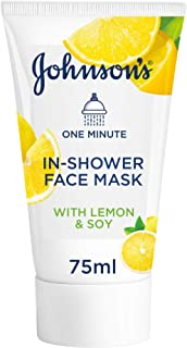 Johnson's Facial Mask, 1 Minute In-Shower Face Mask With Natural Lemon & Soy, 75 ml, GI24500810