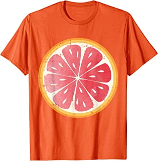 Grapefruit Pomelo Fruit Slice Cute Citrus Halloween Gift T-Shirt