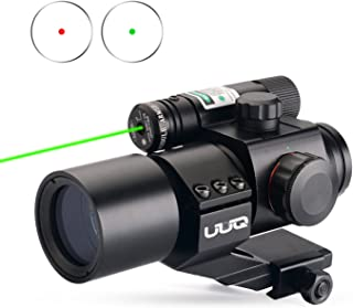 UUQ 1X30 4 MOA Green Red Dot Sight with Green Laser, Picatinny Cantilever PEPR Mount