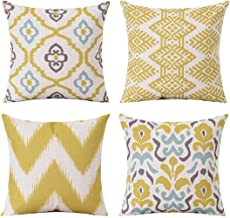 Anna Homey Decor Boho Style Throw Pillow Covers for Couch Cushion Case Pillow Cover Square Pillowcases 4 Pack 18 x 18 inch...