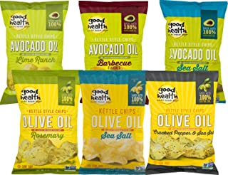 Good Health Avocado Oil and Olive Oil Kettle Style Potato Chips Variety 6-Pack, 5 oz. Bags