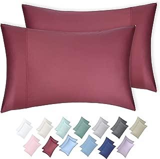 California Design Den 600 TC 100% Cotton Sateen Weave Pillowcases, Deco Rose, 2 Piece King