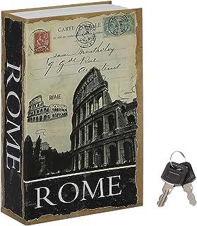 Jssmst Diversion Book Safe with Key Lock, Secrect Hidden Safe Lock Box Large 2018, SMBS021 Large Rome (Key Lock)