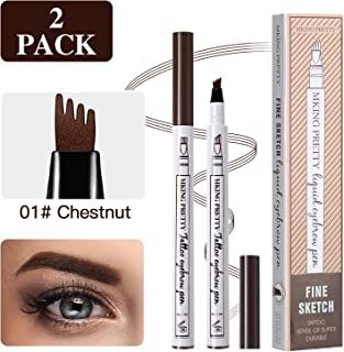 2 Pcs Tattoo Eyebrow Pen LINTEC, Waterproof Microblading Eyebrow Tattoo Pencil with a Micro Fork Tip Applicator Creates Natural Looking Brow