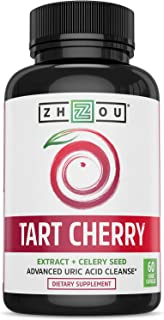 Zhou Nutrition Tart Cherry Extract Capsules with Celery Seed – Advanced Uric Acid..