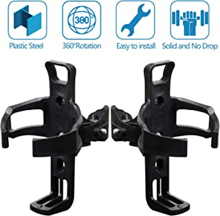HANGHANG ATV Cup Holder RZR Drink Holder Spyder Water Bottle Holder Cages Universal Cup Holder for ATV Compatible with Harley Polaris RZR Can Am Honda Yamaha, 2 PCS