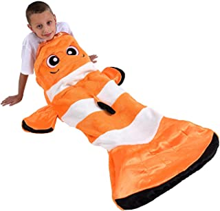 Snuggie Tails Comfy Cozy Super Soft Warm Clownfish Blanket for Kids, As Seen on TV
