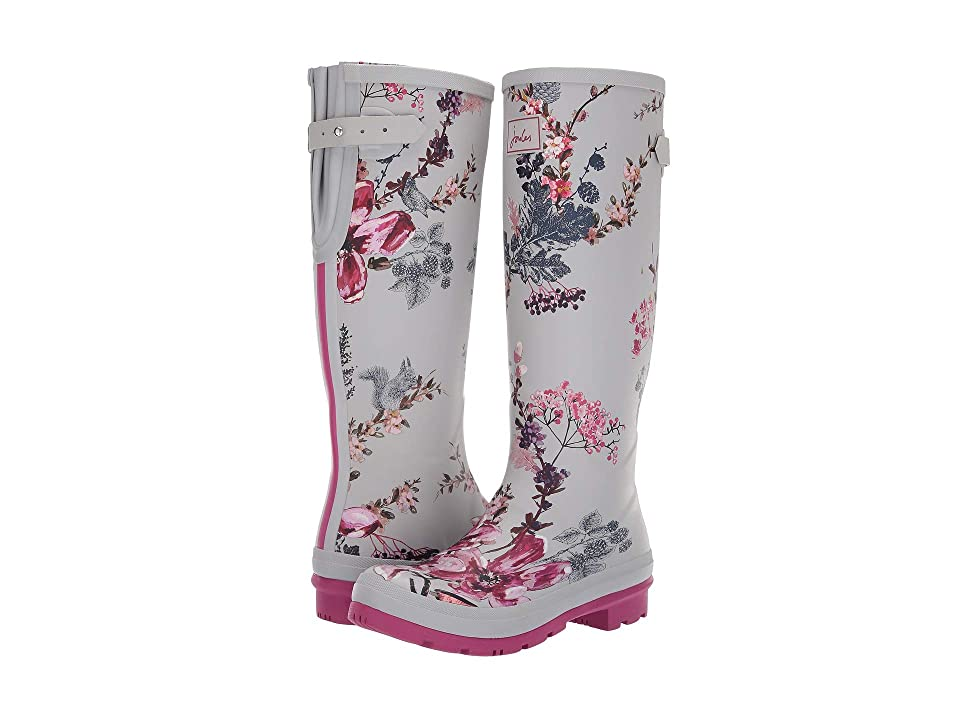 Joules Tall Welly Print (Silver Harvest Floral) Women