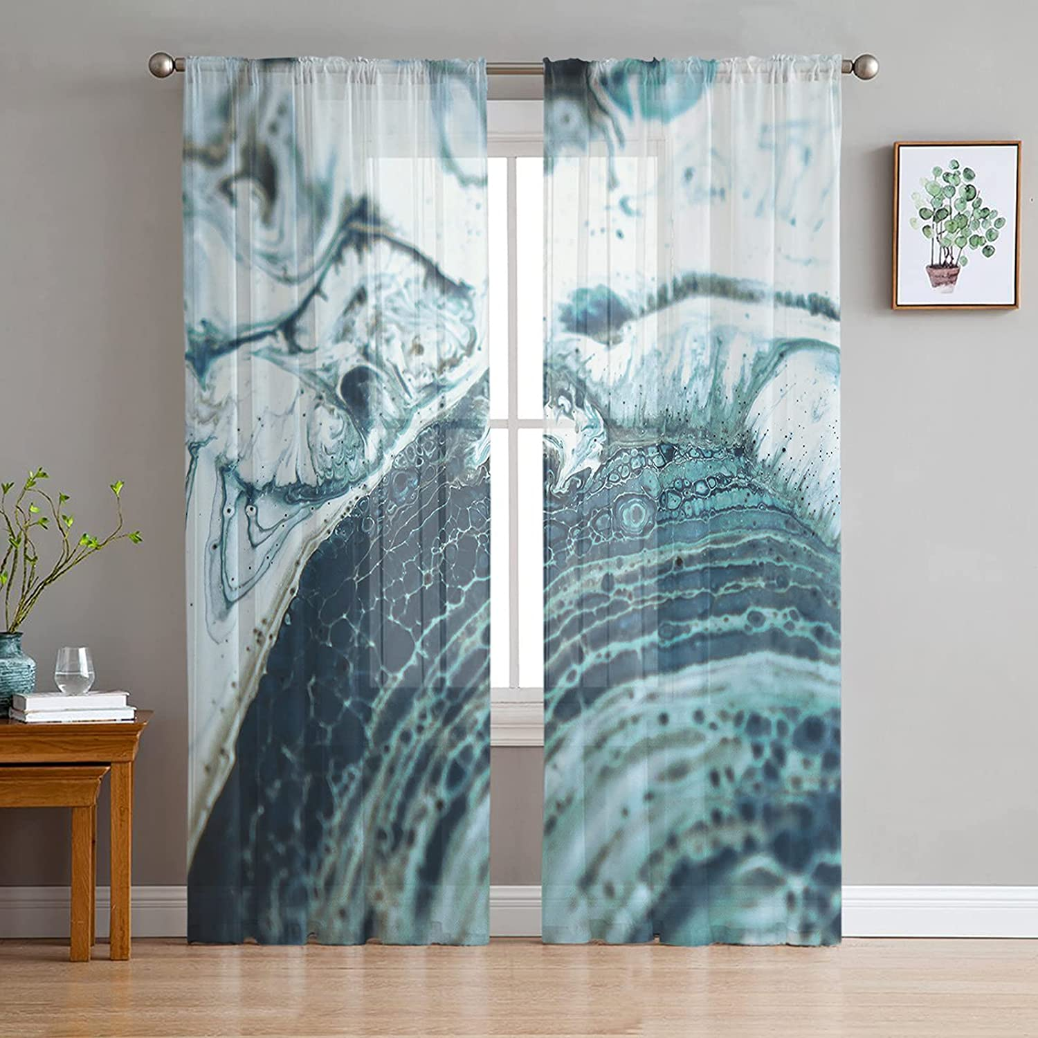 Sheer Voile Ranking TOP18 Chiffon Window NEW before selling ☆ Curtains Touch Soft with Fre Wrinkle