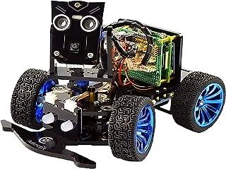 Kit de voiture robot intelligent sans fil WiFi PiCar-B WiFi pour Raspberry Pi 4/3 modèle B+/B/2B, reconnaissance vocale su...