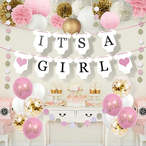 Gold and Pink Baby Shower Decorations: Amazon.com