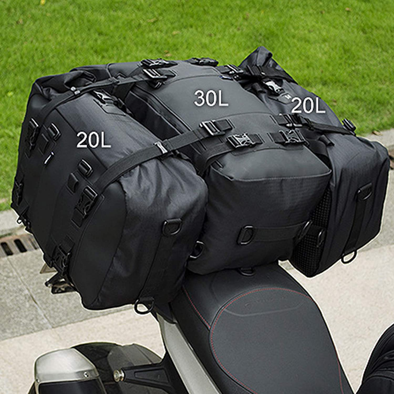 Boating 10//20//30 L Motorcycle Tail Pack Backpack S Multi-functional Durable Rear Motorcycle Seat Bag for Cycling Rafting Motorbike Waterproof Rear Gear Bag