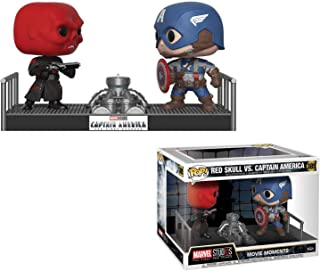 Funko Red Skull vs Captain America: Marvel Stud10s - The First Ten Years x POP! Movie Moment Vinyl Figure + 1 Official Marvel Trading Card Bundle [#389 / 32880]