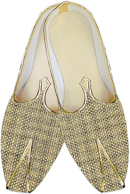 INMONARCH Herren Golden Jute Hochzeit Hochzeit Hochzeit Schuhe Designer MJ014140  724843