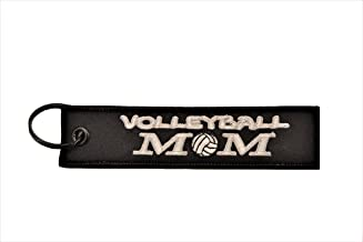 Big Rock Tags Custom Embroidered Volleyball MOM Key Chain