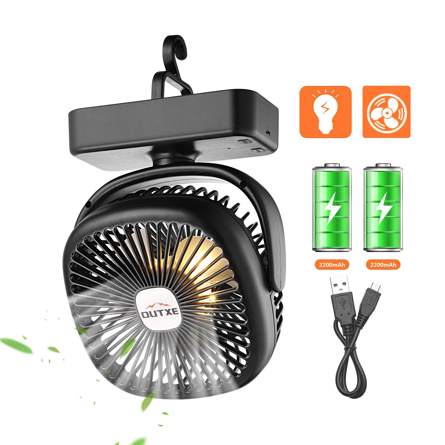 OUTXE Camping Rechargeable Personal Lightweight