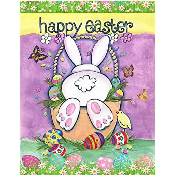 Cartoon Rabbit Butterfly With Easter Egg 5D Full Diamond Painting Embroidery DIY