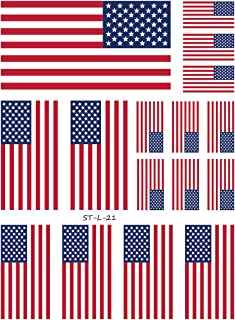 Supperb American Flag Temporary Tattoo Kit, USA Flag Temporary Tattoos 4th of July (16 flags)
