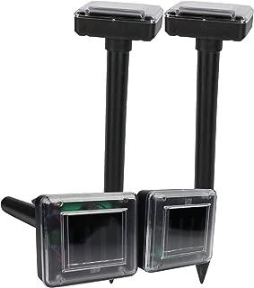 4 Pack Mole Repellent Ultrasonic Mole Repeller Solar Powered Repellant Ultrasonic Outdoor No Mole Killer Trap No Vole Poison Harm to Your Yard