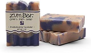 Indigo Wild Zum Bar Goat's Milk Soap - Frankincense and Lavender 3 Pack