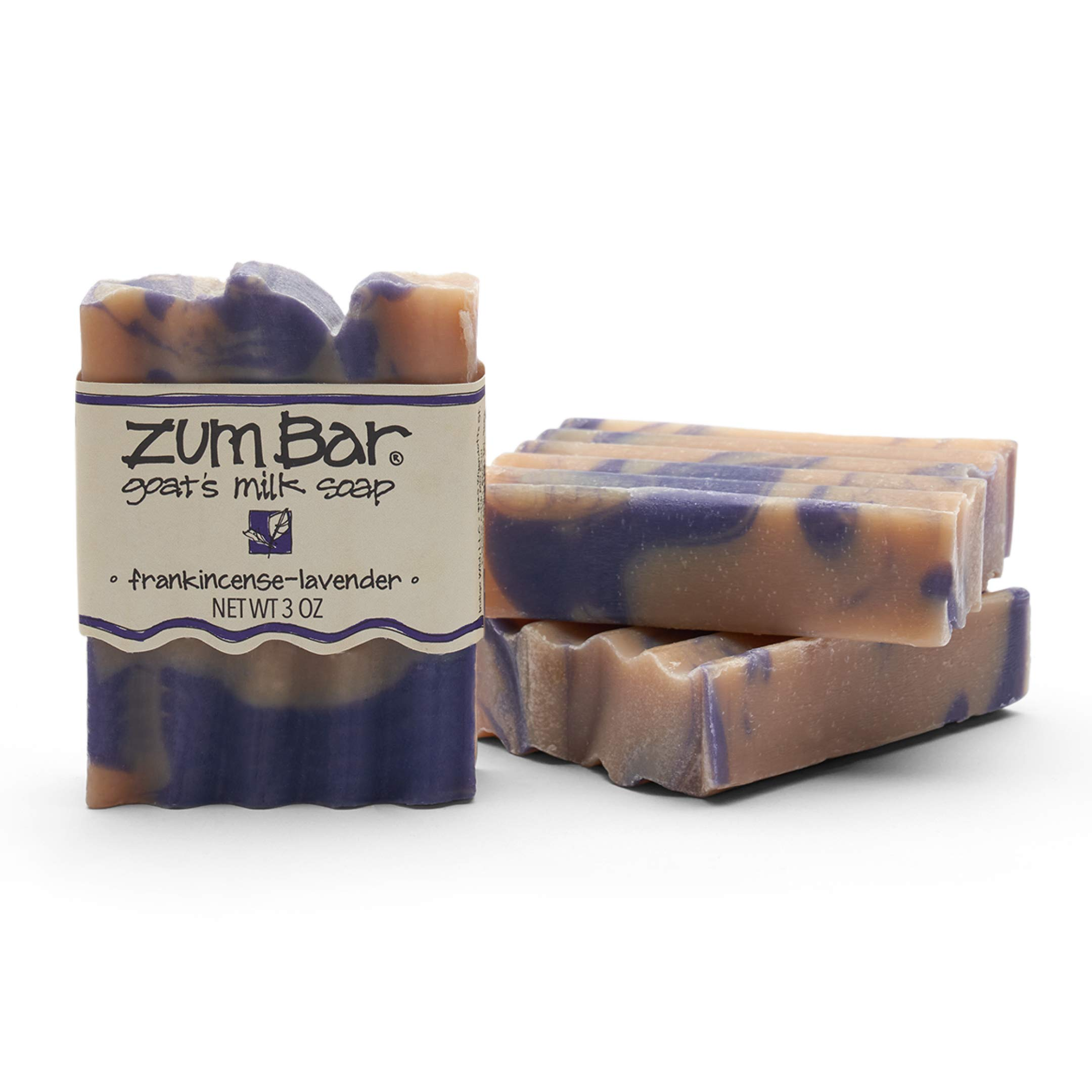 Zum Bar Goat's Milk Soap - Frankincense-Lavender - 3 oz (3 Pack)