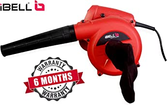 iBELL Air Blower 600W, RPM 14000, Blow Rate 3.3 m/Min, wit h Vacuum dust Collecting Bag, Variable Speed Control (Red)