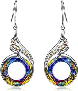 Earrings Gifts for Women Kate Lynn Nirvana of Phoenix Jewelry for Women Teen Girl Grandma Best Friend Teacher Gifts, Swarovski Crystal Phoenix Dangle Earrings Birthday Gifts for Women Mom