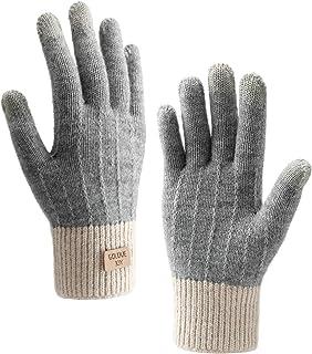 Homealexa Winterhandschuhe Touchscreen Handschuhe Strick Fingerhandschuhe Sport Warm und Winddicht Winterhandschuhe für Sk...