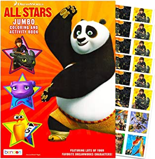 DreamWorks Giant Coloring Book with Stickers -- 96 Pages Featuring Kung Fu Panda, Turbo, Penguins of Madagascar and How to...