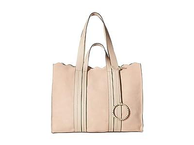 Vince Camuto Wavy Tote (Almond Beige) Tote Handbags