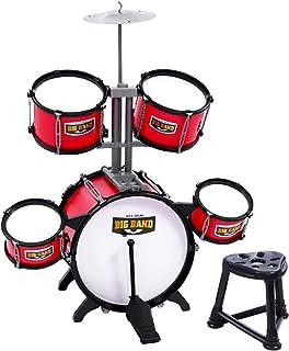 Keezi Kids Drum Set Junior Drums Kit Musical Play Toys