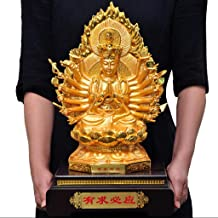 Home Accessories Fukuzawa Thousand-Handed Avalokitesvara Ornaments Seated Lotus Avalokitesvara Buddha Statue Dedicated to ...