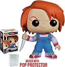 Funko Pop! Horror Movies: Childs Play 2 - Chucky Vinyl Figure (Bundled with Pop BOX PROTECTOR CASE)
