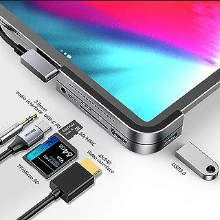 iPad Pro USB C ハブ 6in1 Baseus Type C ドッキングステーション 60W PD充電ポート 4K HDMI出力ポート USB3.0ポート 3.5mm ジャックポート SD TFカードスロット MacBook Pro AirなどUSB-C機種対応 (シルバー)
