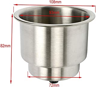 Amarine Made Stainless Steel Cup Drink Holder with Drain Marine Boat Rv Camper