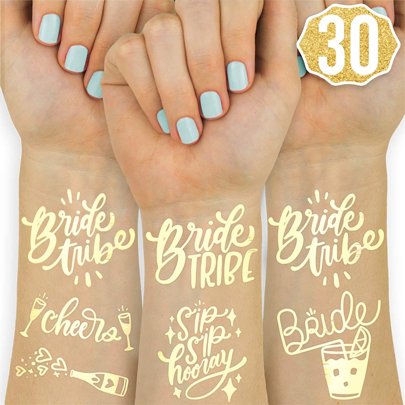 xo, Fetti 30 Bride Tribe Flash Tattoos | Bachelorette Party Decorations, Bridesmaid Favor + Bride to Be